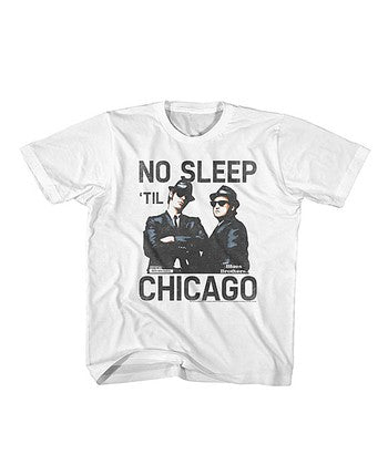 blues brothers chicago no sleep til chicago printed t-shirt tee toddler kids infant baby vintage