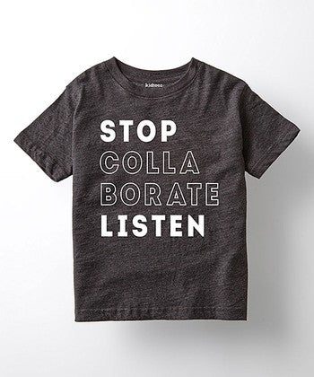 stop collaborate and listen throwback vintage kids infant toddler hip hop t-shirt tee