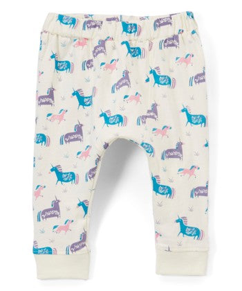 Organic Infant Unicorn Printed Pants