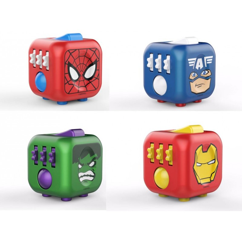 marvel fidget cube spider man fidget spinner captain America hulk the hulk iron man super hero