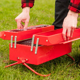 BBQ Toolbox being opened up on the grass