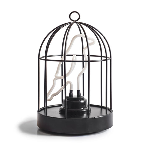 Neon Bird in a Cage