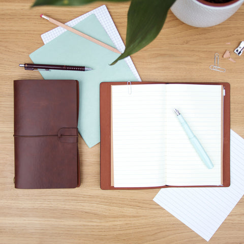 Faux Leather Travel Notebooks
