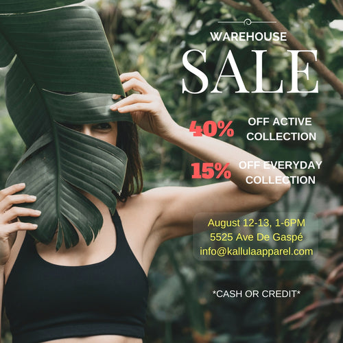 Kallula Apparel Warehouse Sale!