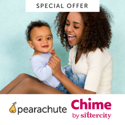 Special Offer: 4 Hours of Babysitting with Chime + 5 Credit Pearachute Flex Pack
