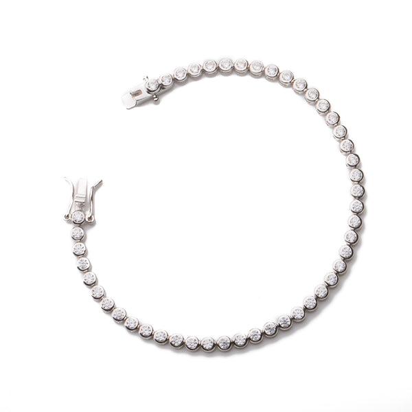 AMELIA Sterling Silver Cubic Zirconia Tennis Bracelet Gold Plated