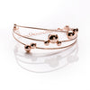 ANIKA Gold Plated Sterling Silver Adjustable Bangle Bracelet