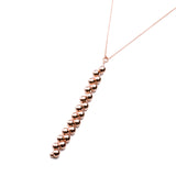 YEDDA Gold Plated Sterling Silver Beaded Icicle Pendant Necklace