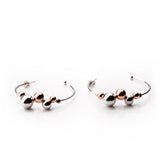 MIA Gold Plated Sterling Silver Beaded Hoop Earrings