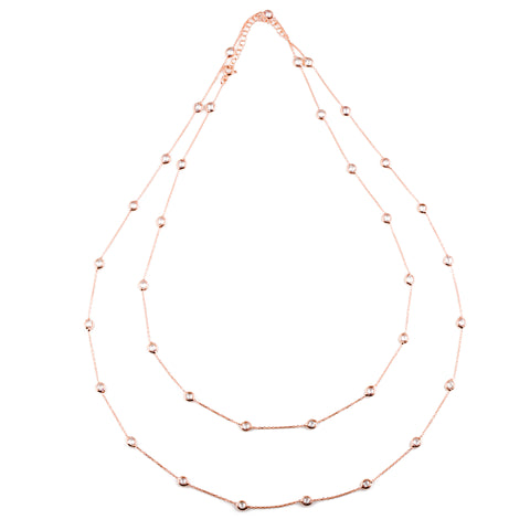 TRISTA Leather choker necklace with zirconia drop in silver bezel