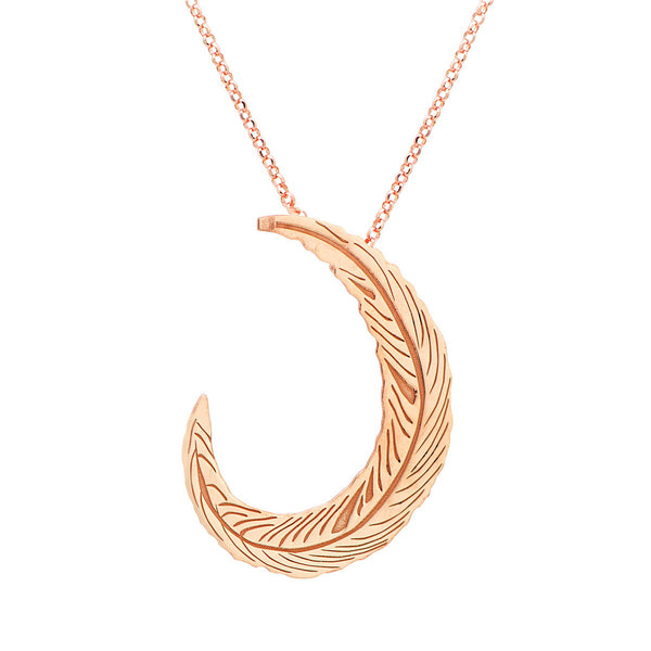 FLORIANA Sterling silver necklace with elegant leaf pendant