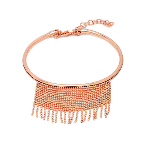 ALLESSIA Sterling silver rose gold plated honeycomb bracelet