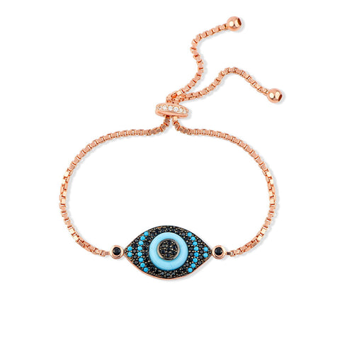 FAYRA Sterling Silver Gold-Plated Evil Eye Charms