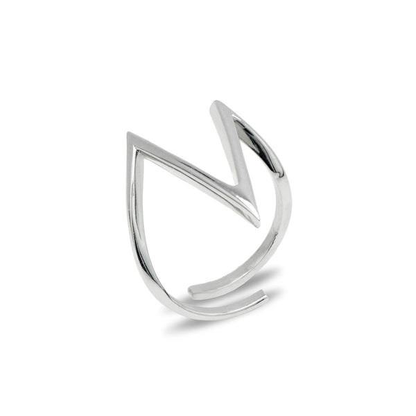 ORIANA Sterling silver V ring
