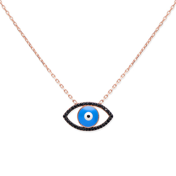 MARSALA Sterling silver Evil eye pendant with turquoise gold plated