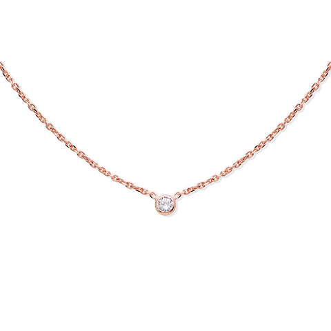 OLIVIA Sterling silver long chain with mother of pearl and zirconia