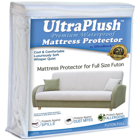 UltraPlush™ Premium Waterproof Mattress Protector - Super Soft Quiet Cover