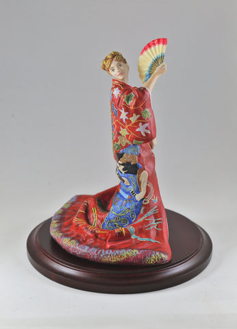 "Miniature Sculpture - ""An Oriental Fan"" - Limited Edition"