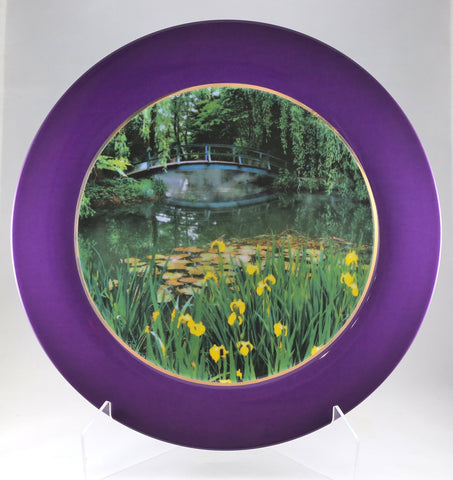 "Charger Plate - ""Giverny Bridge"""
