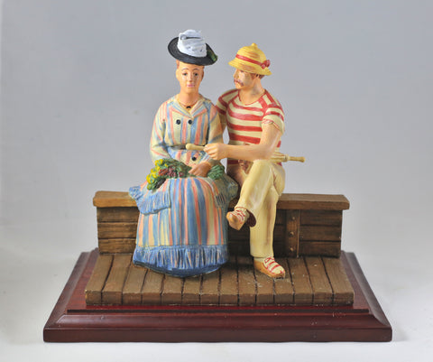 "Miniature Sculpture - ""Sailing the Seine"" - Limited Edition"