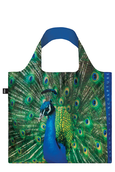 Tote Bag - Grounds For Sculpture Peacock - David W. Steele - by LOQI