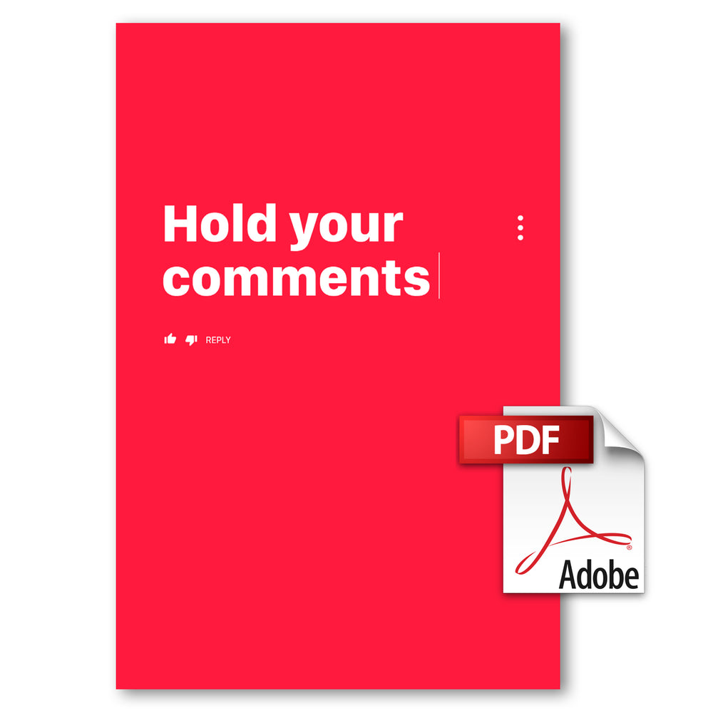 Hold Your Comments Book