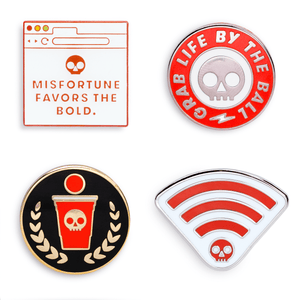 Load image into Gallery viewer, Fear Pong Enamel Pins