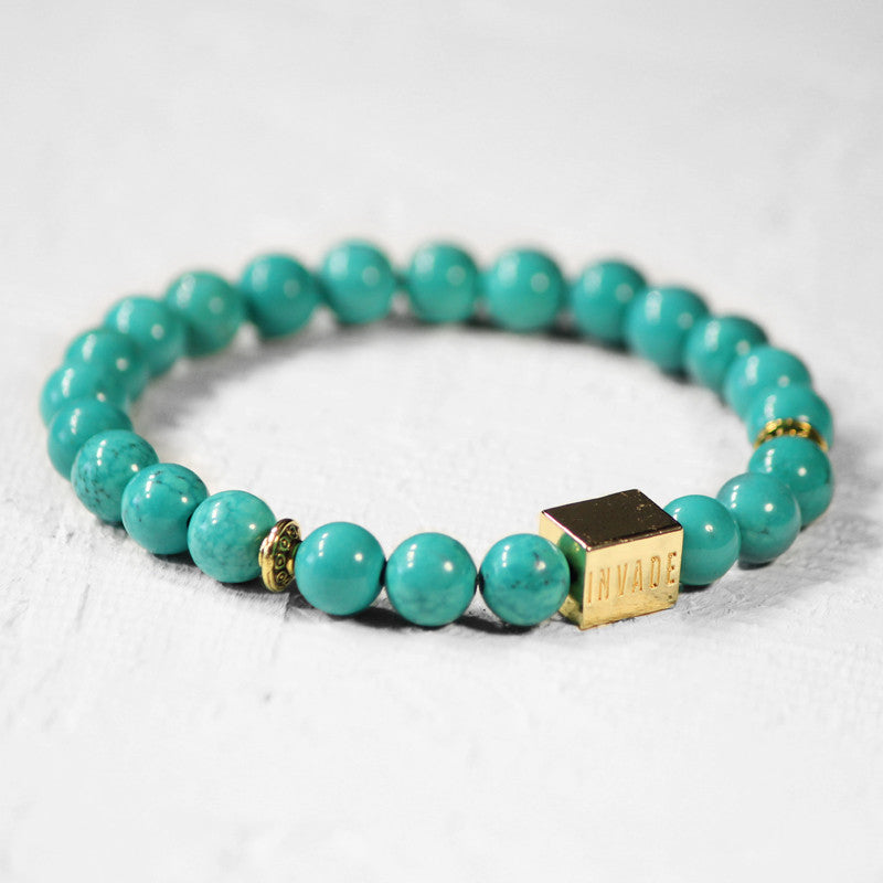 Turquoise - Gold (Spacers)