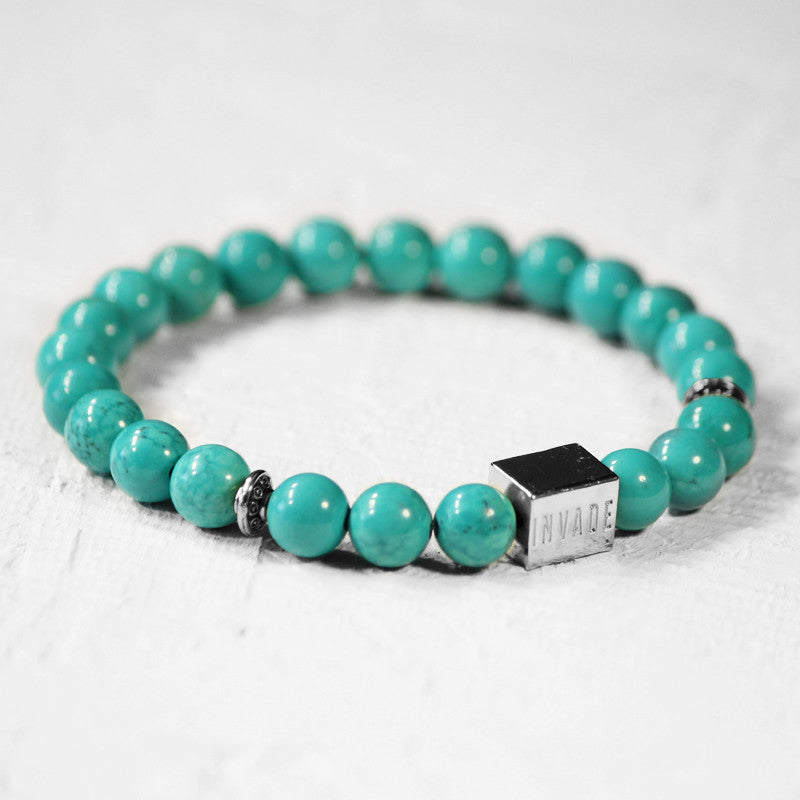 Turquoise - Silver (Spacers)