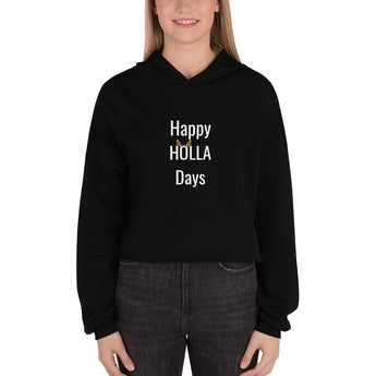 Happy Holla Days Crop Hoodie