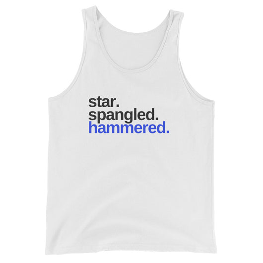 Star Spangled Hammered Unisex  Tank Top