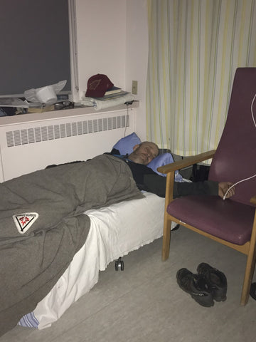 Husband Supporter, My Rock, Sleeping in Hospital