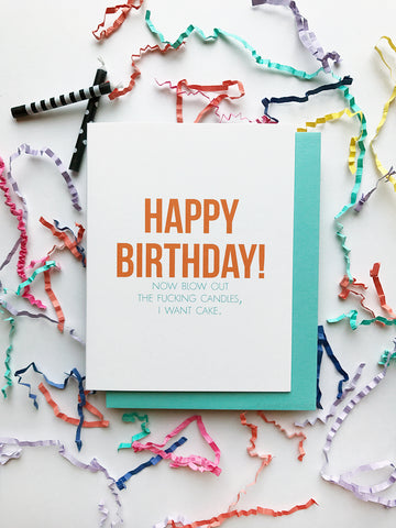 Blow Out the Candles Birthday Card