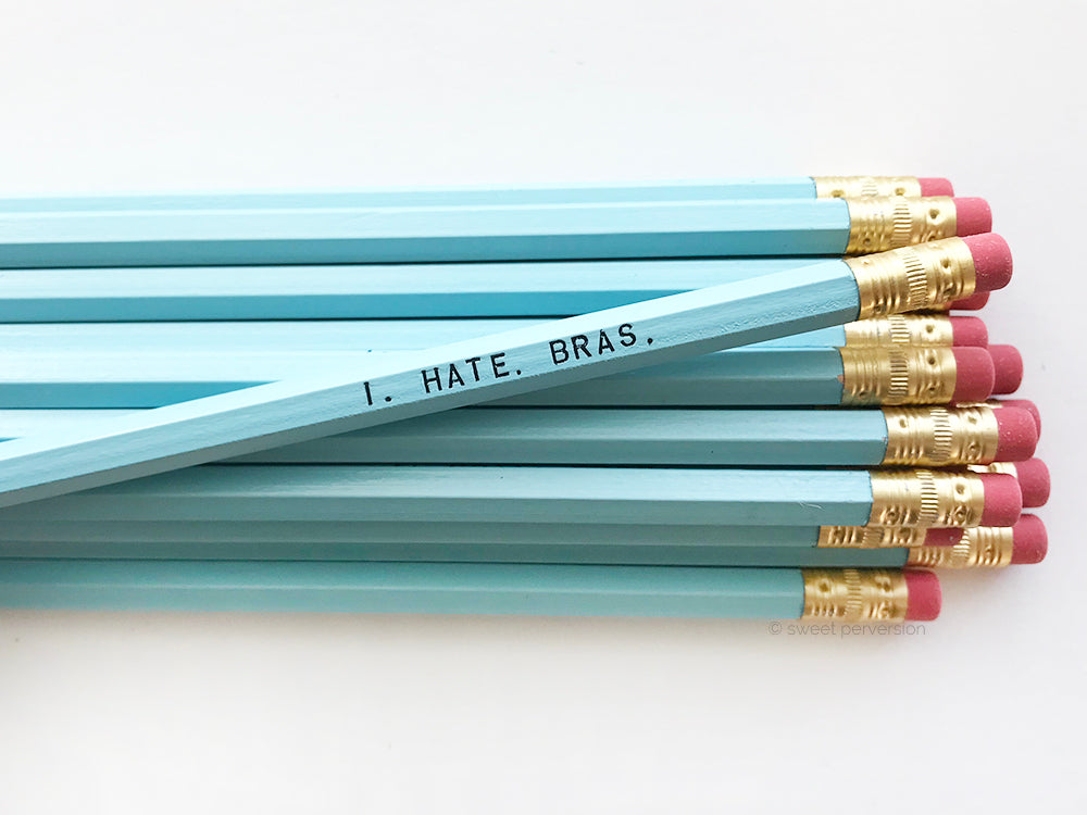 I Hate Bras Pencil Set