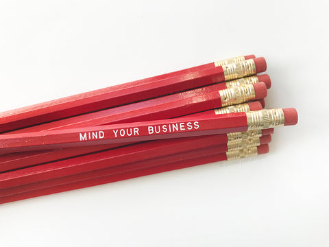 Mind Your Business Pencil Set