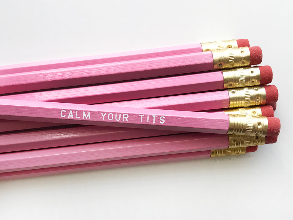 Calm Your Tits Pencil Set