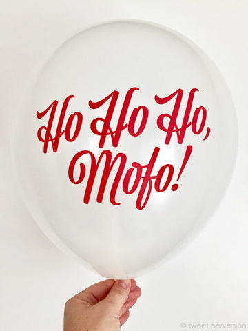 Christmas Party Balloons. Set of 3.Ho Ho Ho. Party Balloons. Holiday Balloons.