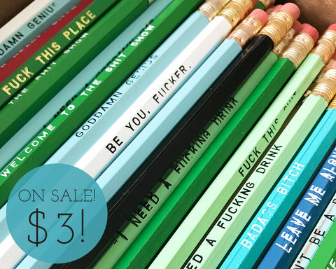 Perfectly Imperfect Pencils. On Sale!