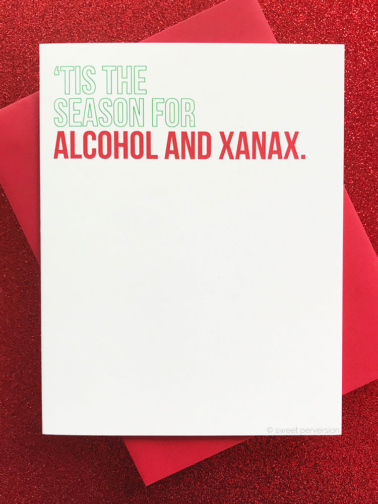 Alcohol & Xanax Christmas Card Boxed Set