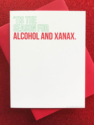 Alcohol & Xanax Christmas Card