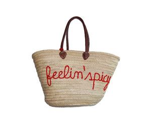 Feelin' Spicy, Cherry, Straw Tote