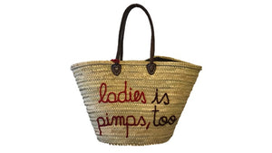 Ladies is Pimps too, Straw Tote