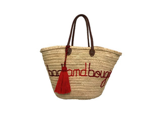 Bag and Bougie, Straw Tote