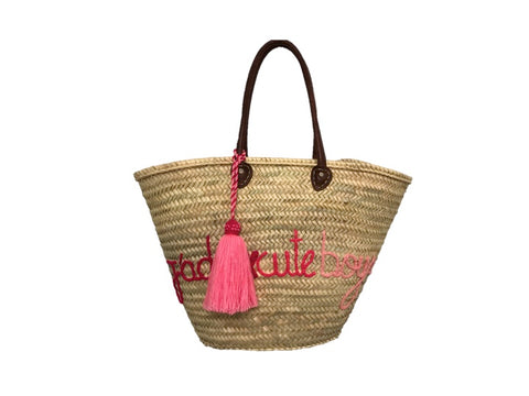 J'Adore Cute Boys, Straw Tote