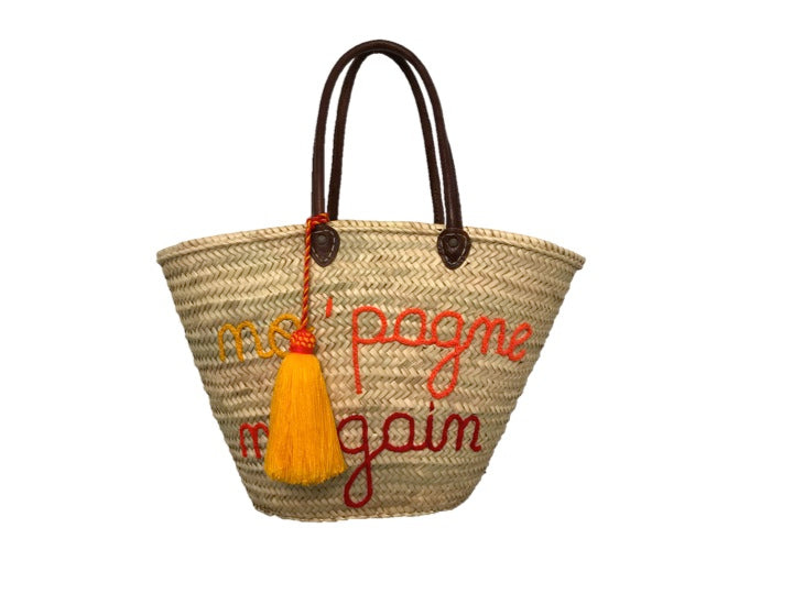 No 'Pagne No Gain, Straw Tote