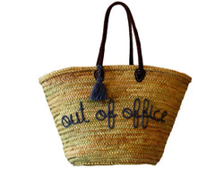 Out of Office, Smoke, Straw Tote