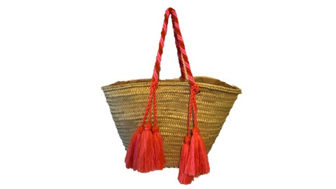 Valencia Rope Tote with Tassels, Rio