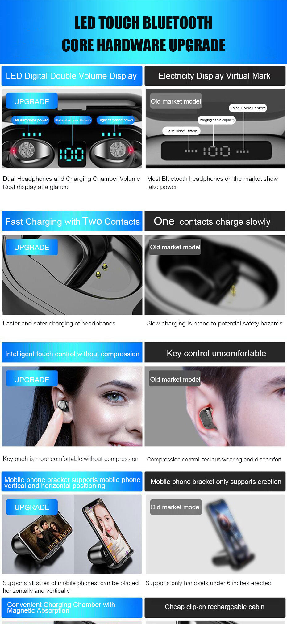 wireless bluetooth headphones earbuds