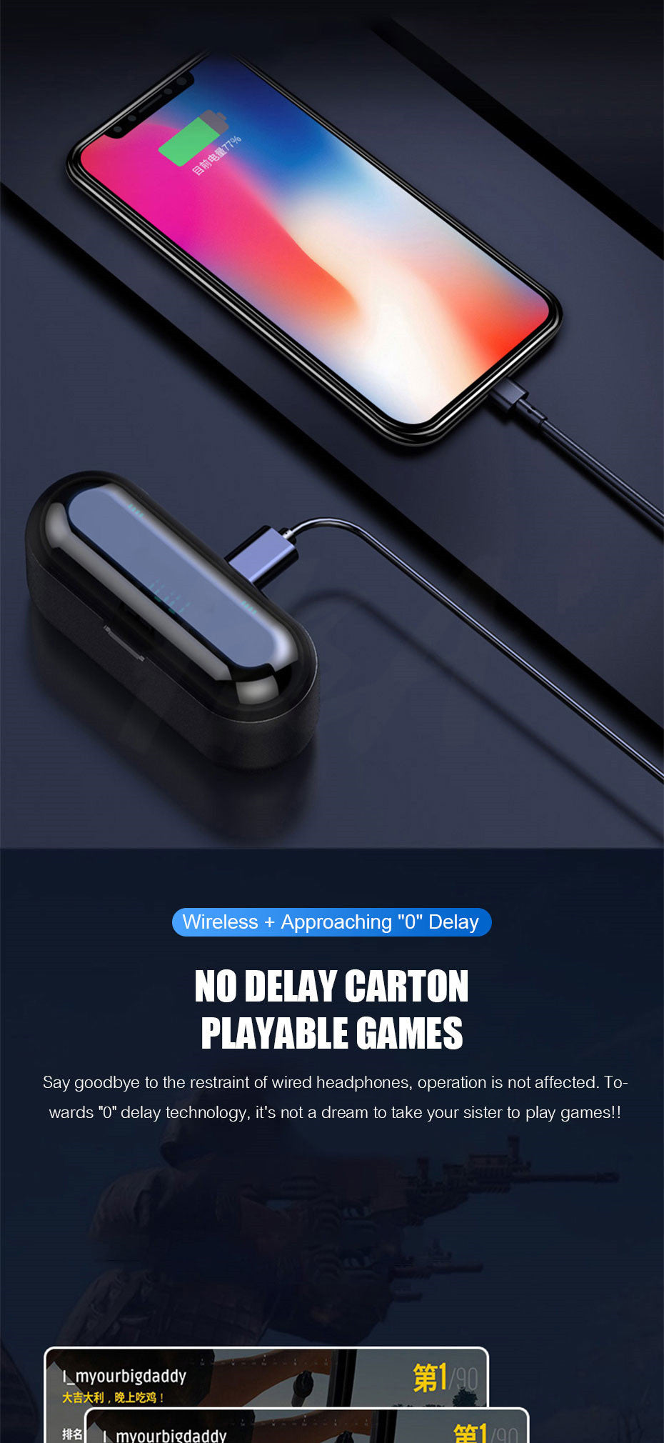 Wireless Bluetooth Headphone Earphone Earbuds