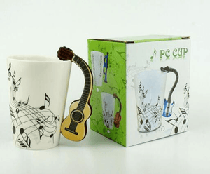 3D Clefs & Notes Guitar Mug